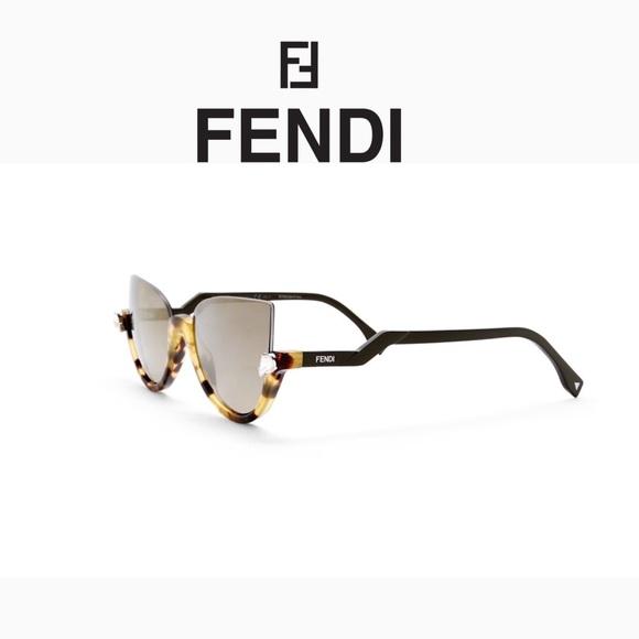 8d8a1f4ec0 Unique Fendi Blink Sunglasses Half Rim Mirror